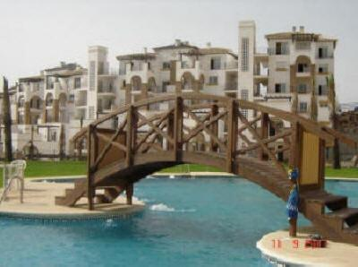 Bridge over Pool...