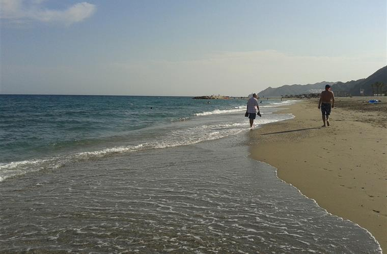 Mojacar beach in October