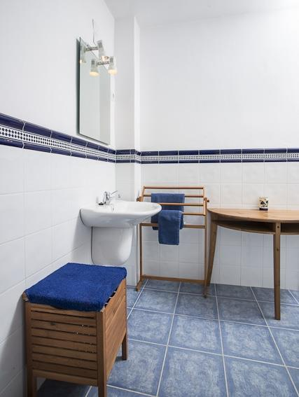 Blue Bathroom on first floor
