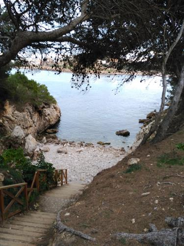 Tiny hidden beach at Sant Marti