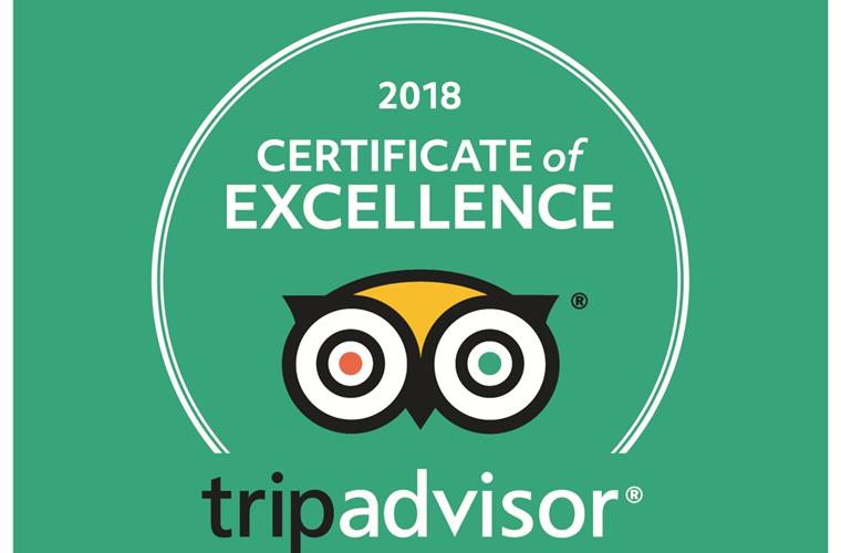 Our certificate of Excellence awarded in 2018