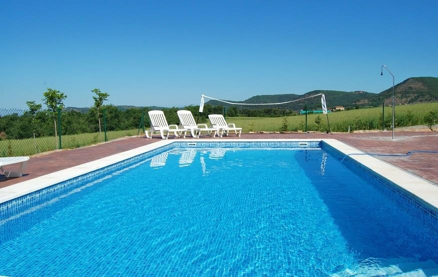 The pool is 32 m2 (8x4 m) - a perfect place for relaxing