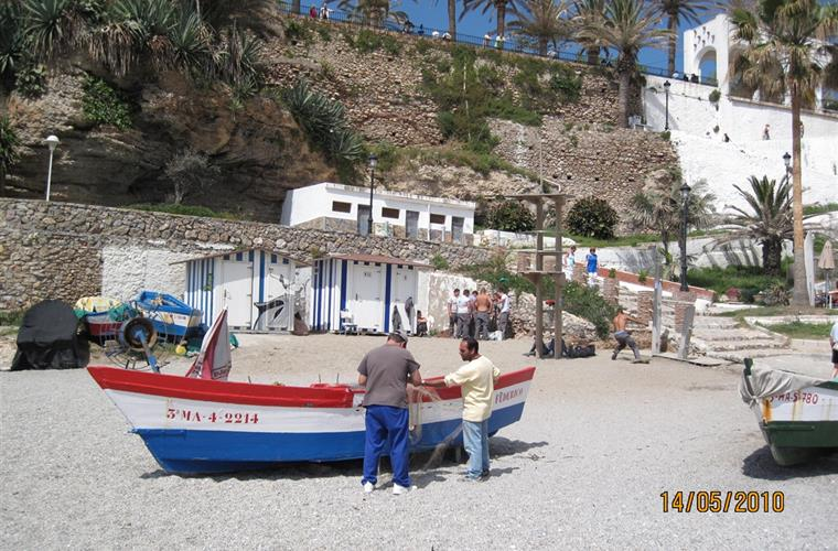 One of Nerja's many beaches