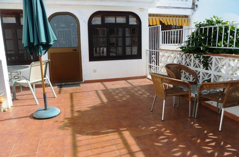 "Large sunny patio ideal for dining ""al fresco"""