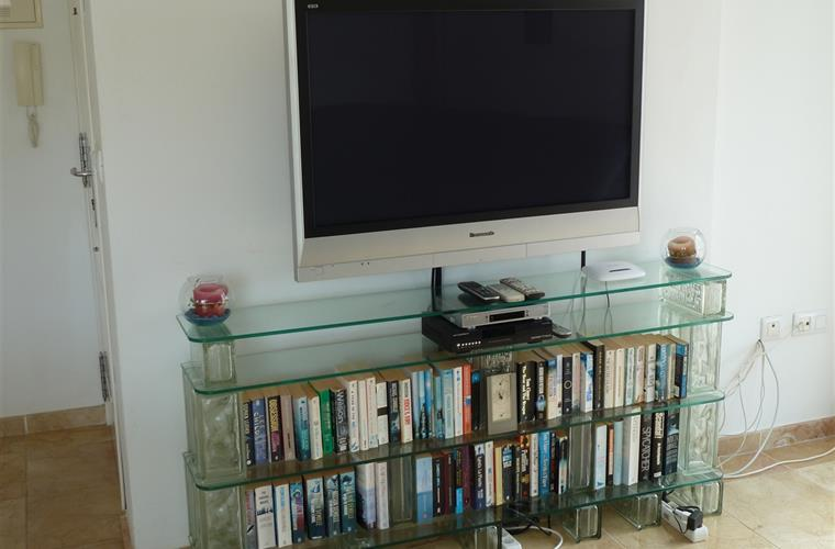 "42"" wall-mounted Plasma TV & Book Library"