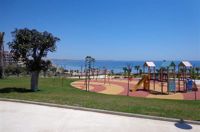 Childrens play area by the beach.