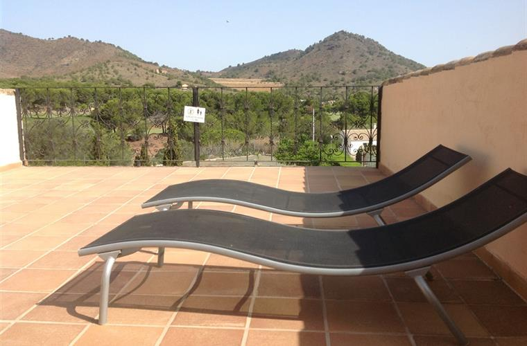 Rear terrace loungers