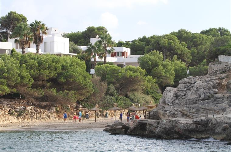 View of the villa from the beach