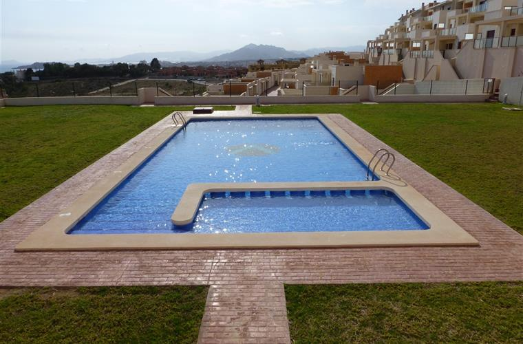 One of the five communal pools