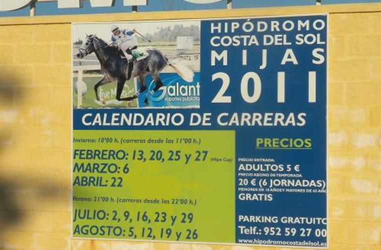 Horse racing is a big deal in Andalucia.
