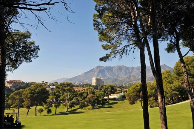 Golf resort Rio Real Marbella with view towards La Concha mountain