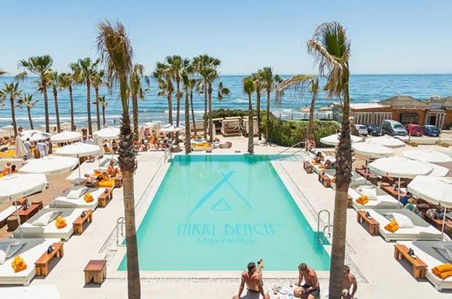 Nikki Beach Club Marbella at only 1.5 km distance from the villa