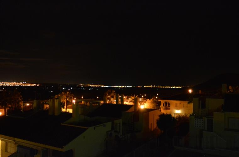 View from roof terras at night