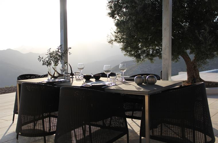 Enjoy a lovely dinner with the stunning view