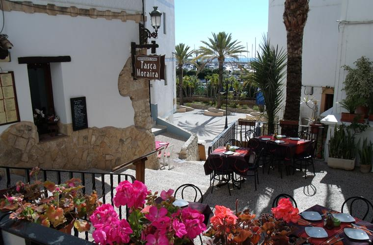Pretty restaurant in Moraira's 'Old Town'