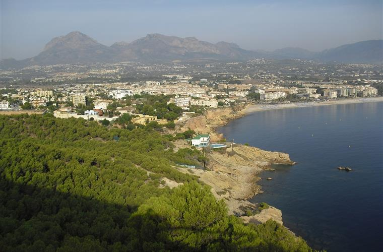 View of Albir from Sierra Helada
