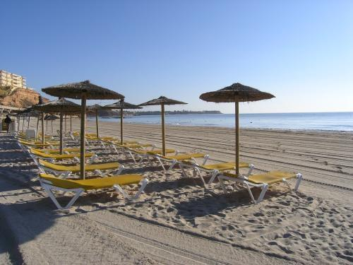 Blue flag beach campoamor 5 minutes walk