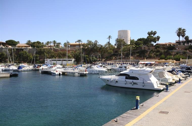 cabo roig harbour with tower