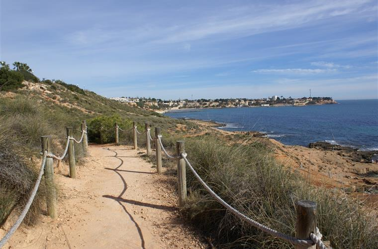 footpaths in a lovely natural setting for a walk along the sea