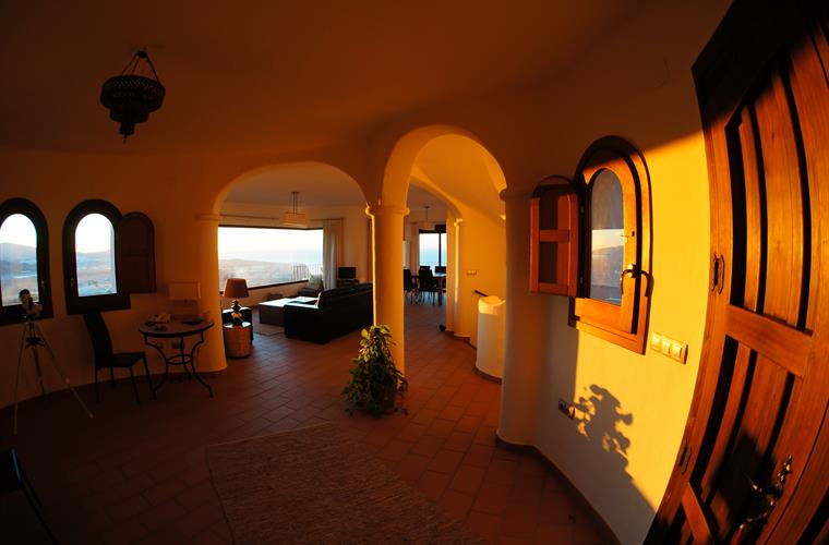 Early morning sun in the entrance hall