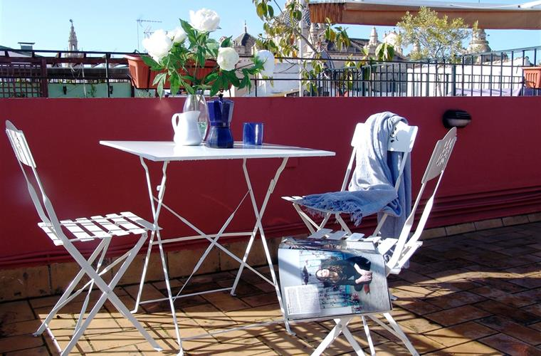 breakfast on your private roof top terrace