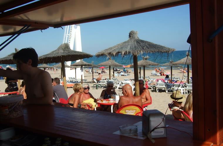 Beach  Bar at Mar Menor just in case you work up a thirst!!