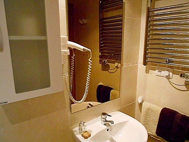 Second bathroom  also includes a built in hair dryer