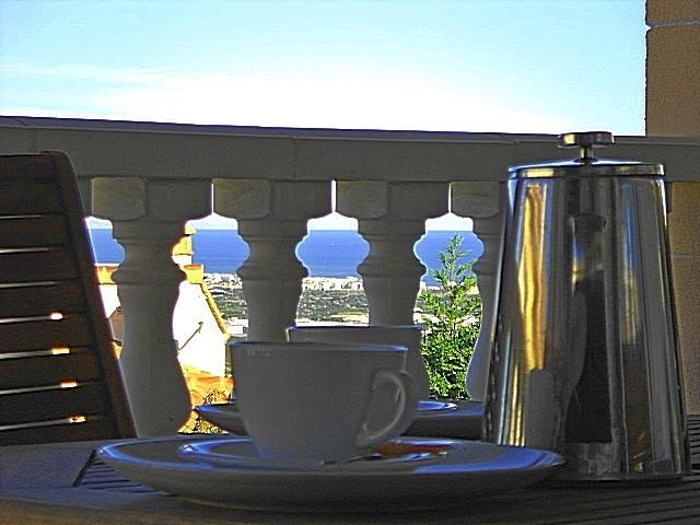 Morning coffee at the terrace while enjoying the view...