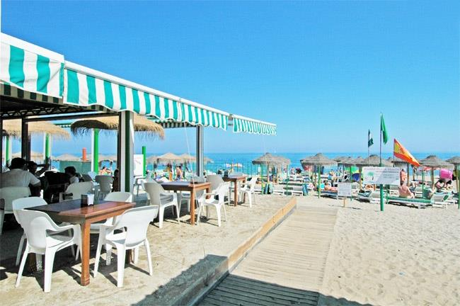 Beach restaurant between Calahonda and La Cala de Mijas