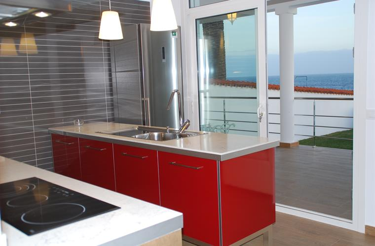 Brand new desing kitchen fully equipped with sea views.