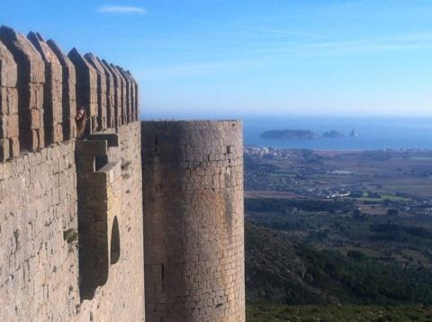 Beautiful view from the Castel from de Montgrí