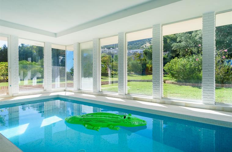 indoor pool - view to the garden