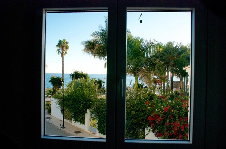 sea view from the second bedroom