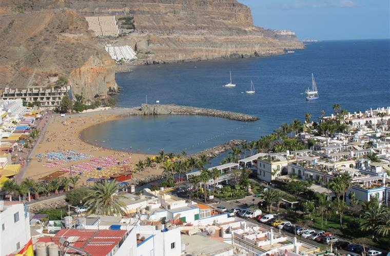 The beach,Puerto de Mogan