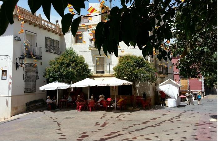 The village square with Tapas bar ¨La Plaza¨