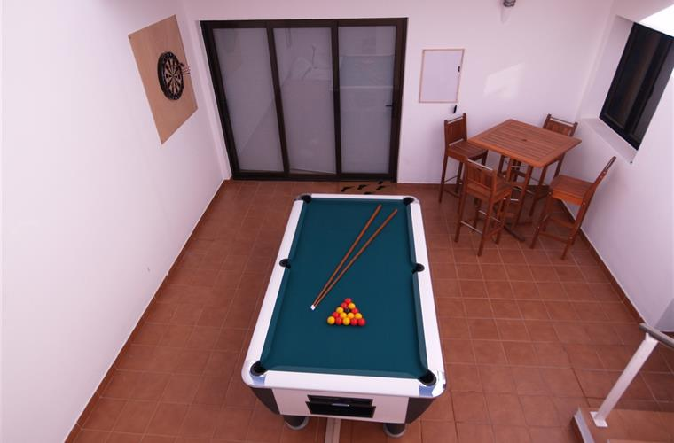 Pool and dart area
