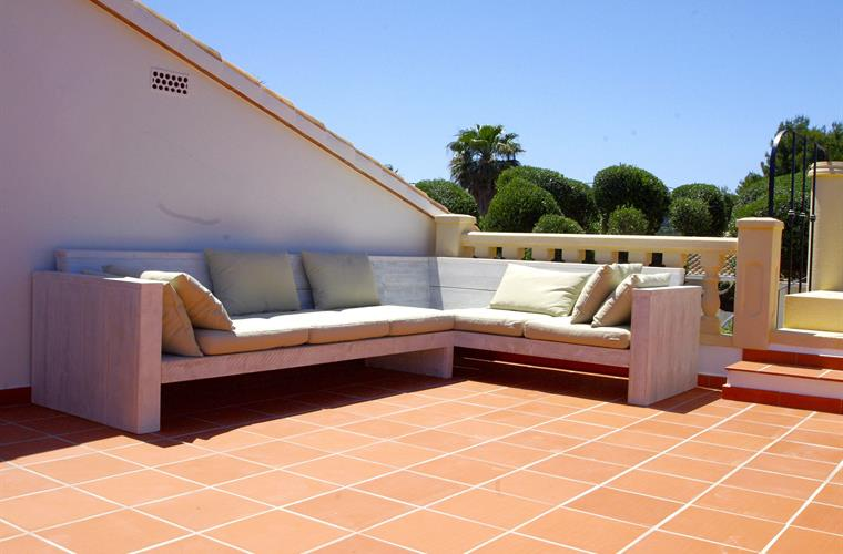 roof terrace with chill out sofa
