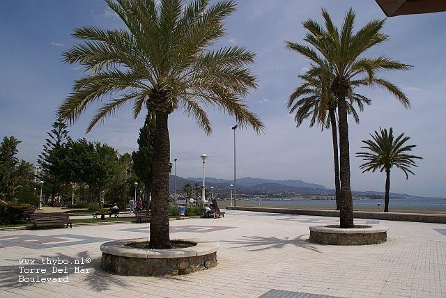 Torre del Mar has a beautiful boulevard with spectacular views