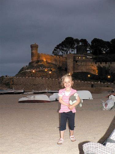 The castle and our daughter