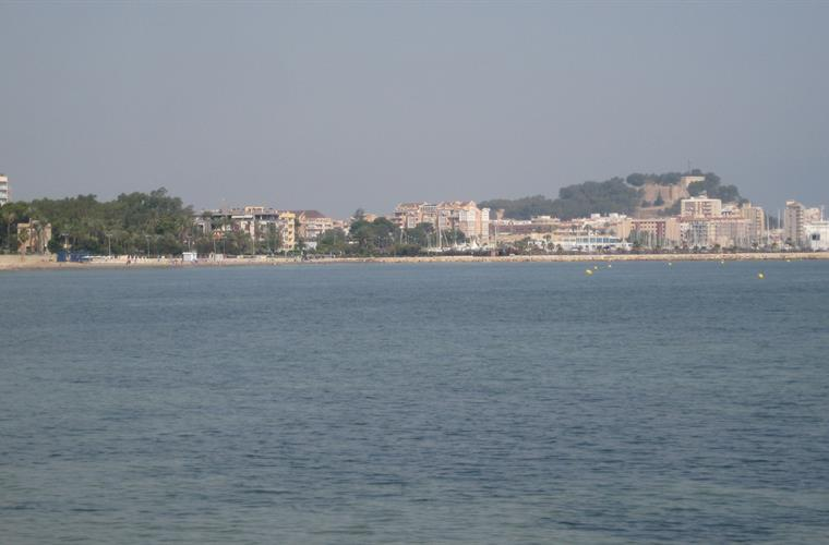 Denia from the Los Rotas ocean walk