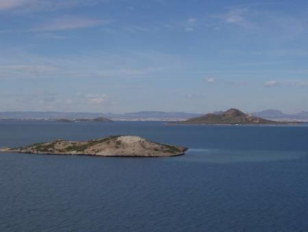 Islands in the Mar Menor