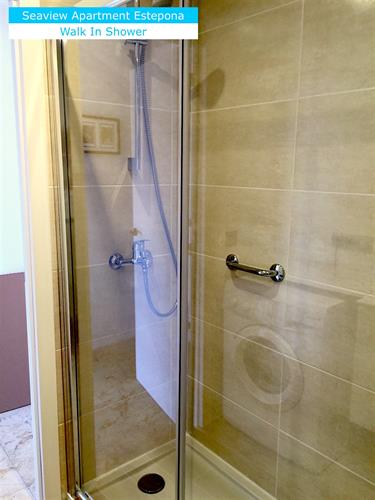 Shower room: walk-in shower