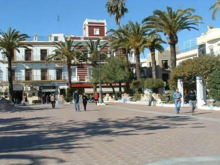 An historic square at Ayamonte