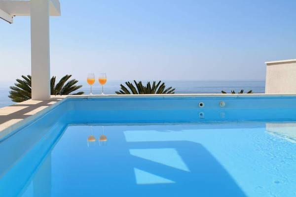Private swimming pool on roof-terrace