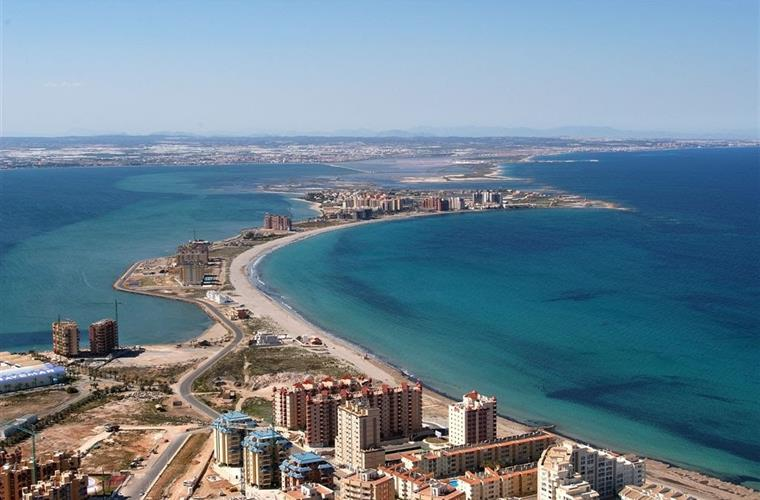Views of the la manga strip in all its glory,showing the med and m