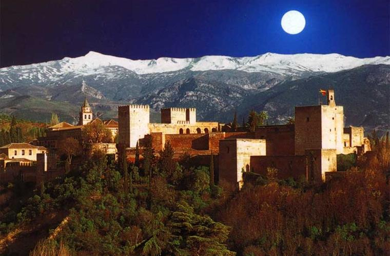 Alhambra @ night closeby