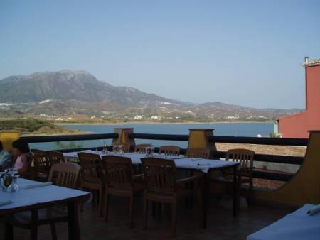 View from Lake Vinuela restaurant