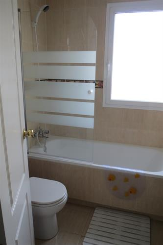 Bathroom, with shower over bath