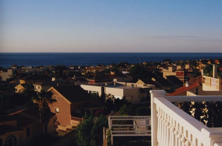 View from the terrace of the apartment towards the sea