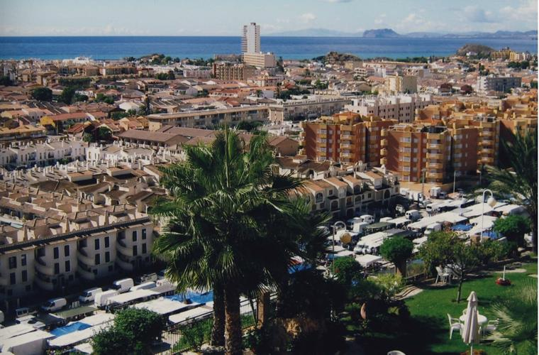Sunday Market, from the Hotel Cumbre, Puerto de Mazarron